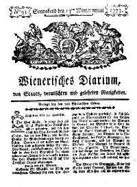 Titelseite der Ausgabe Nr. 91, 13. November 1773