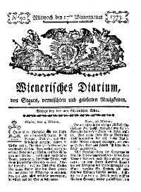 Titelseite der Ausgabe Nr. 92, 17. November 1773