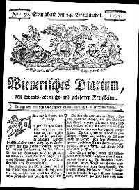 Titelseite der Ausgabe Nr. 50, 24. Juni 1775