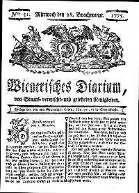 Titelseite der Ausgabe Nr. 51, 28. Juni 1775