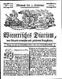 Titelseite der Ausgabe Nr. 53, 5. Juli 1775