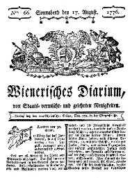 Titelseite der Ausgabe Nr. 66, 17. August 1776