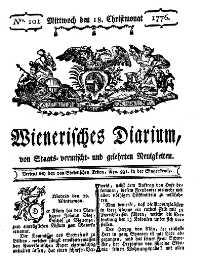 Titelseite der Ausgabe Nr. 101, 18. Dezember 1776