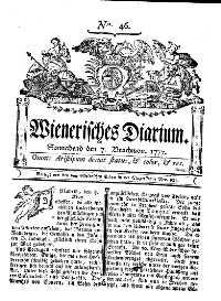 Titelseite der Ausgabe Nr. 46, 7. Juni 1777