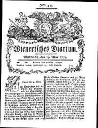 Titelseite der Ausgabe Nr. 40, 19. Mai 1779
