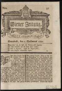 Titelseite der Ausgabe Nr. 97, 2. Dezember 1780