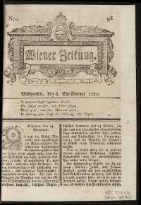 Titelseite der Ausgabe Nr. 98, 6. Dezember 1780