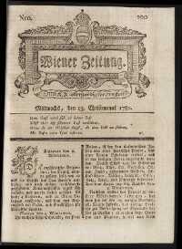 Titelseite der Ausgabe Nr. 100, 13. Dezember 1780