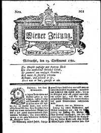 Titelseite der Ausgabe Nr. 101, 19. Dezember 1781