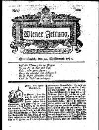 Titelseite der Ausgabe Nr. 102, 22. Dezember 1781