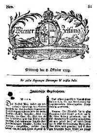 Titelseite der Ausgabe Nr. 81, 8. Oktober 1783
