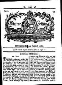 Titelseite der Ausgabe Nr. 51, 25. Juni 1785
