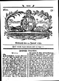 Titelseite der Ausgabe Nr. 52, 29. Juni 1785