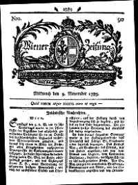 Titelseite der Ausgabe Nr. 90, 9. November 1785
