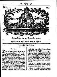 Titelseite der Ausgabe Nr. 101, 17. Dezember 1785