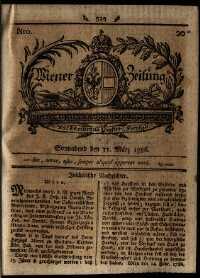 Titelseite der Ausgabe Nr. 20, 11. März 1786