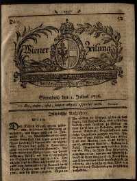 Titelseite der Ausgabe Nr. 52, 1. Juli 1786