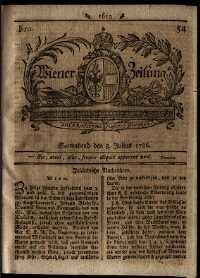 Titelseite der Ausgabe Nr. 54, 8. Juli 1786