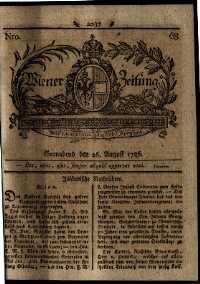 Titelseite der Ausgabe Nr. 68, 26. August 1786