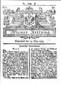 Titelseite der Ausgabe Nr. 41, 23. Mai 1789