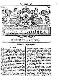 Titelseite der Ausgabe Nr. 60, 29. Juli 1789