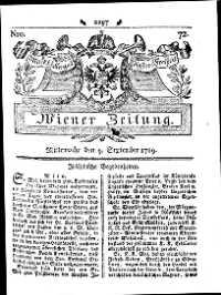Titelseite der Ausgabe Nr. 72, 9. September 1789
