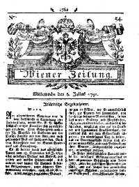 Titelseite der Ausgabe Nr. 54, 6. Juli 1791
