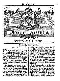 Titelseite der Ausgabe Nr. 55, 9. Juli 1791