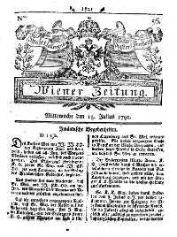 Titelseite der Ausgabe Nr. 56, 13. Juli 1791