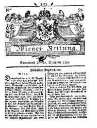 Titelseite der Ausgabe Nr. 99, 10. Dezember 1791