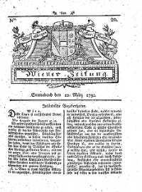 Titelseite der Ausgabe Nr. 20, 10. März 1792