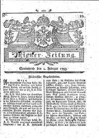 Titelseite der Ausgabe Nr. 10, 2. Februar 1793
