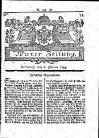 Titelseite der Ausgabe Nr. 11, 6. Februar 1793