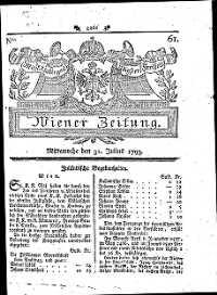 Titelseite der Ausgabe Nr. 61, 31. Juli 1793