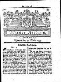 Titelseite der Ausgabe Nr. 87, 30. Oktober 1793