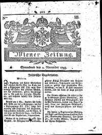 Titelseite der Ausgabe Nr. 88, 2. November 1793