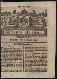 Titelseite der Ausgabe Nr. 45, 6. Juni 1795