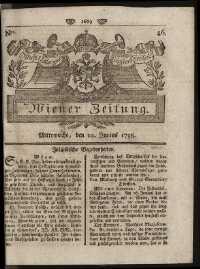Titelseite der Ausgabe Nr. 46, 10. Juni 1795
