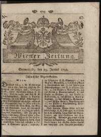 Titelseite der Ausgabe Nr. 47, 13. Juni 1795
