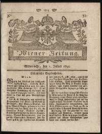 Titelseite der Ausgabe Nr. 49, 1. Juli 1795