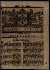 Titelseite der Ausgabe Nr. 45, 4. Juni 1796