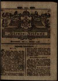 Titelseite der Ausgabe Nr. 47, 11. Juni 1796