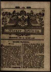 Titelseite der Ausgabe Nr. 49, 18. Juni 1796