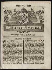 Titelseite der Ausgabe Nr. 59, 25. Juli 1798