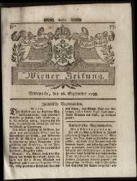 Titelseite der Ausgabe Nr. 77, 26. September 1798