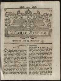 Titelseite der Ausgabe Nr. 78, 29. September 1798