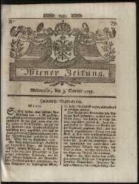 Titelseite der Ausgabe Nr. , 3. Oktober 1798